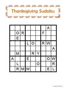 thanksgiving word sudoku