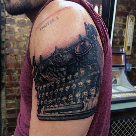 typewriter tattoo designs  men retro ink ideas
