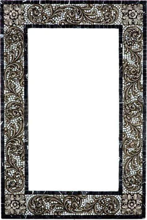 Mosaic Framed Bathroom Mirror by Mosaic Mirror Frame With Metal Inlay Mediterranean
