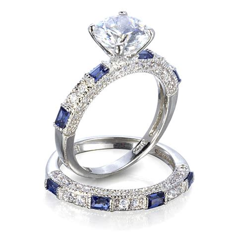 blue sapphire wedding ring sets wedding bands wedding bands sets
