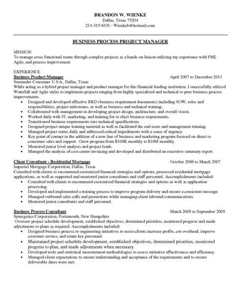 Project Management Resume Sles by Agile Project Manager Resume Sle Project Manager