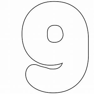 free printable numbers 0 9 With number 9 cake template