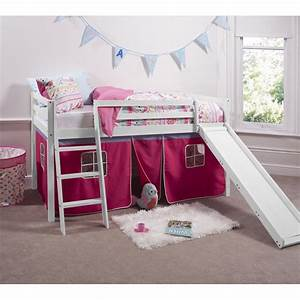 Pretty Pink Cabin Bed With Slide Tent Noa Nani