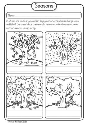 materials support seasons worksheets seasons preschool kindergarten worksheets