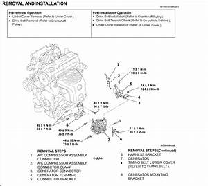 Alternator Replacement  How To Take The Alternator Off  Releasing