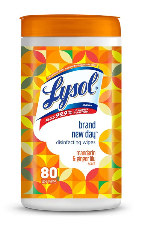 Lysol Disinfecting Wipes, Mandarin & Gingerlily, 80ct