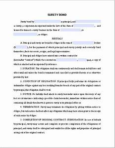 sample surety bond free fillable pdf forms free With personal surety template