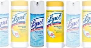 2 New Lysol Wipes & Disinfectant Spray Coupons - Save $1