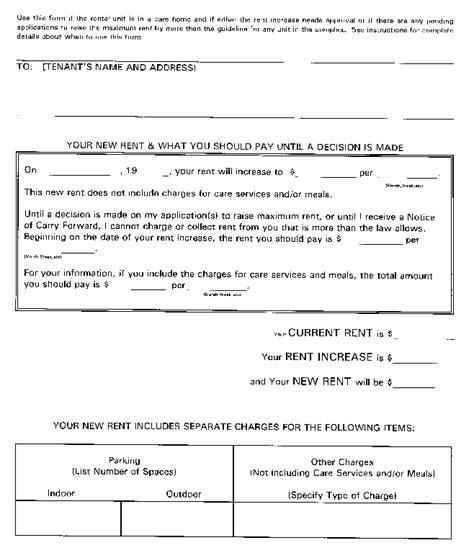 notice of rent increase document view ontario ca Ontario