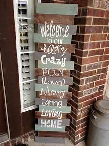Cute, Diy, Welcome, Signs, For, Your, Home