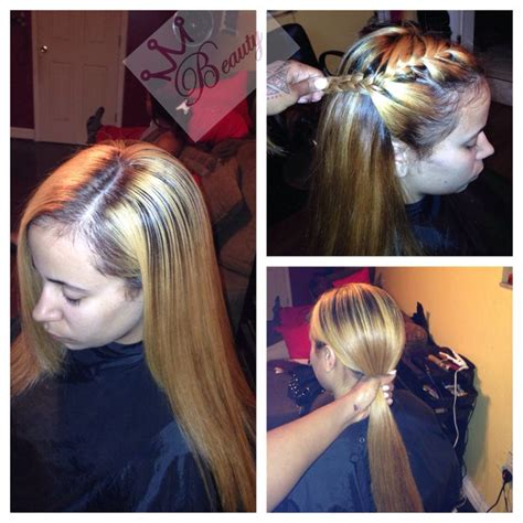 Hairstyles With Tracks Sewed In by Weave Versatile Sew In Custom Color Extensions Weave