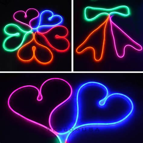 50ft led flex neon rope light in outdoor valentine xmas