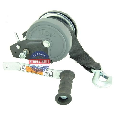 Boat Trailer Winch Strap by Dlx Boat Trailer Winch 1900 Lb Capacity With Winch Strap