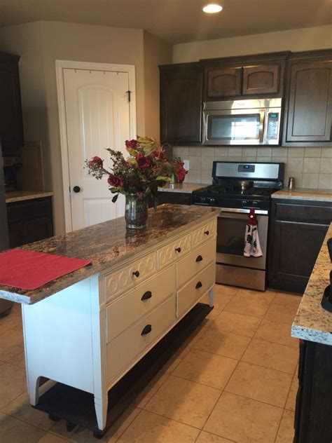 dresser into kitchen island dresser turned into a beautiful kitchen island with 7159