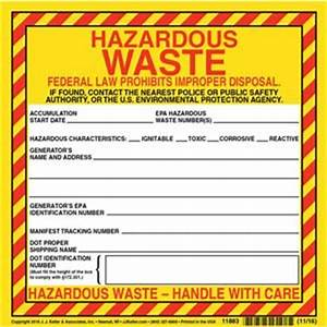 universal waste labels With hazardous waste label template