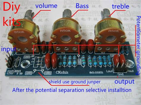 Amplifier Passive Bass Treble Tone Board Volume Control