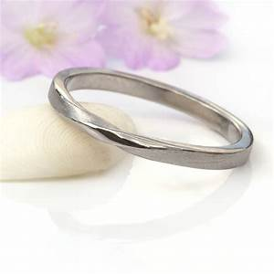ribbon twist wedding ring 18ct gold or platinum by lilia With platinum and gold wedding ring