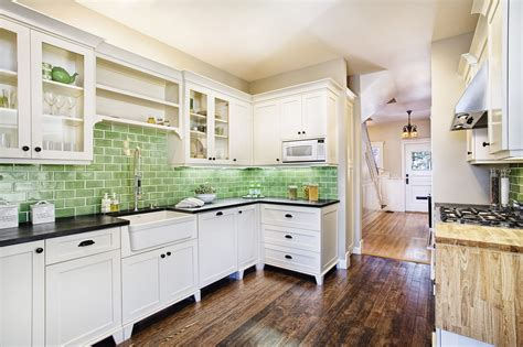 best paint color with green tile 20 best colors for small kitchen design allstateloghomes