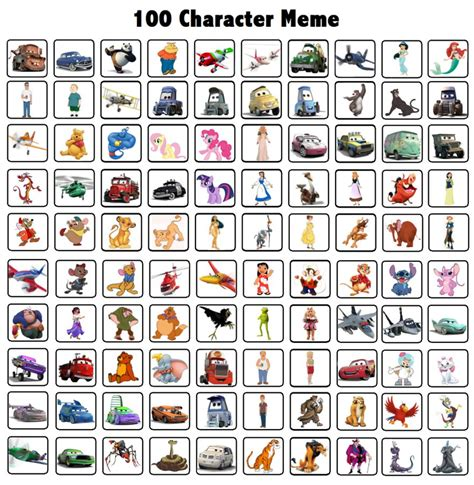 100 Memes In 3 Minutes - my 100 characters meme by elchupacabra51 on deviantart