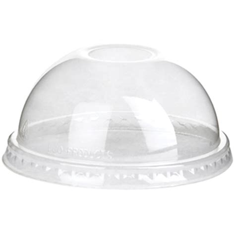 Eco Products Renewable & Compostable Cold Cup DOME Lid for 12, 16, 20, and 24 oz. cups   Sleeve