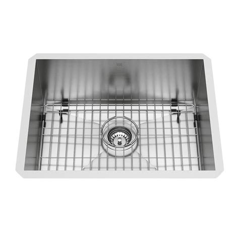vigo  gauge single basin undermount stainless steel kitchen sink  lowescom