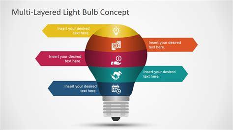 multi layered light bulb concept  powerpoint slidemodel