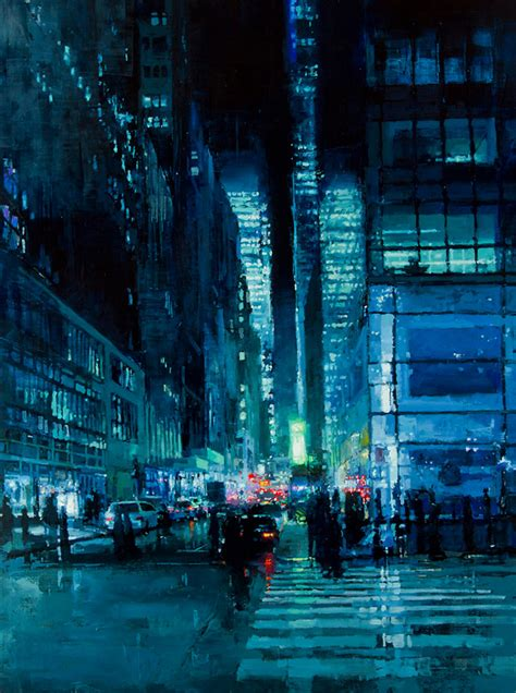brooding cityscapes painted  oils  jeremy mann