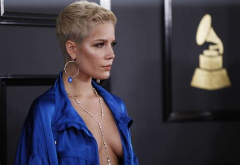Halsey Goes Braless In Wet White Tank Top; Teases Fans