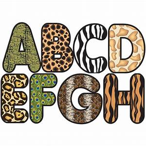 animal print letters clip art clipground With animal print letters