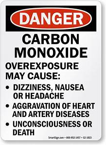 Carbon Monoxide Warning Signs