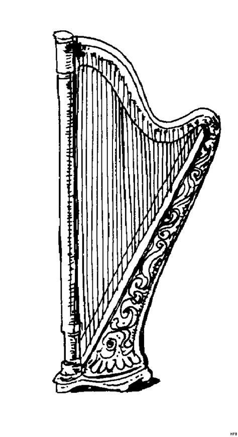 harfe  ausmalbild malvorlage sonstiges