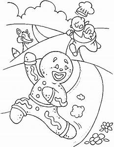 gingerbreadman coloring page - running gingerbread man clipart 16