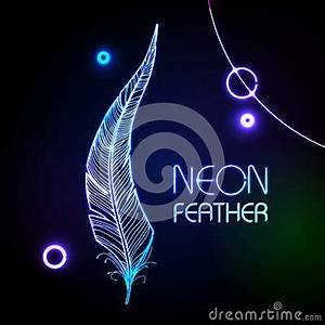 Neon Feather Stock graphy Image