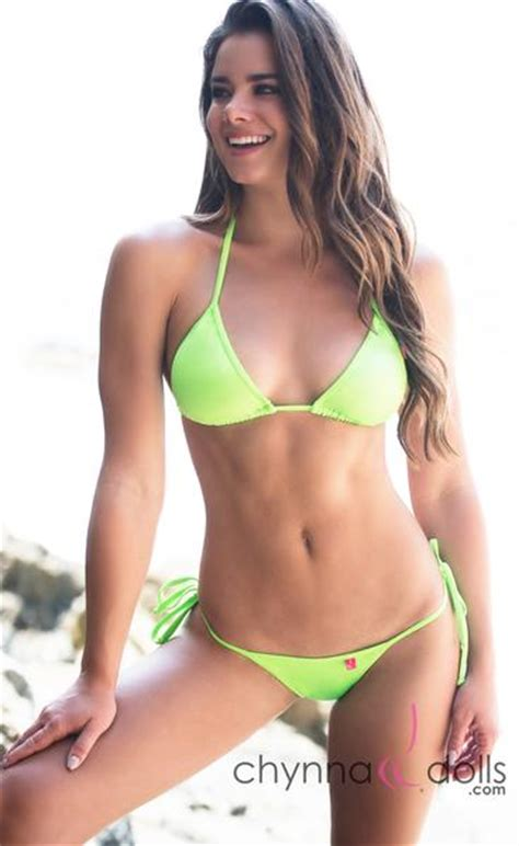 halter v neck swimsuit t back in solid neon green chynna dolls
