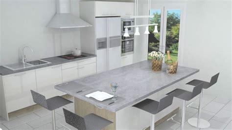 cuisine blanc laque avec ilot modele de cuisine americaine avec ilot central 3