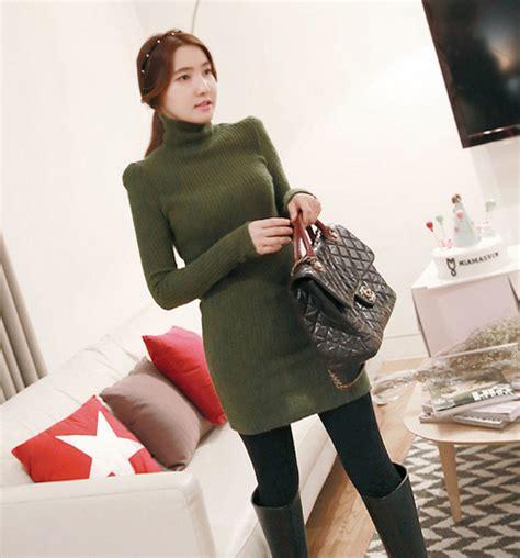 miamasvin rib knit turtleneck dress kstylick latest
