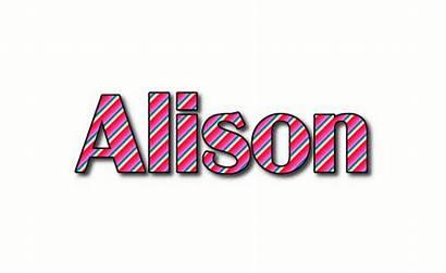 Alison Logos Text Flamingtext