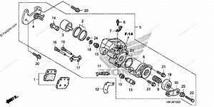 Honda Atv 2014 Oem Parts Diagram For Rear Brake Caliper
