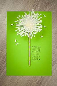 Kreative Geschenke Zum Geburtstag Selber Machen : geburtstagskarte selber machen selber basteln diy pusteblume kreative karten ~ Eleganceandgraceweddings.com Haus und Dekorationen