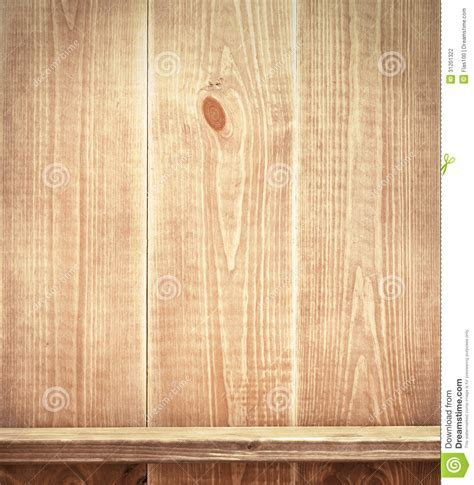 Empty Shelf On Wooden Wall Stock Photography   Image: 31201322