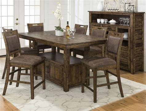 counter height table height reign adjustable height table and 4 counter height chairs