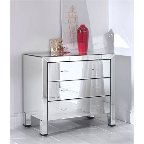 chest of drawers with mirror romano mirrored chest 3 drawer furniture from