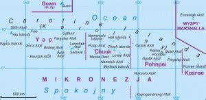 Ģeogrāfiskā karte - Mikronēzija (valsts) (Federated States ...