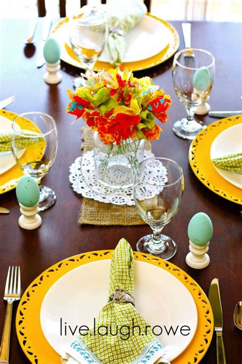 decor de table pour paques 5 springtime tablescape ideas