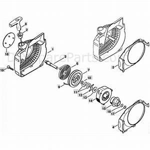 Stihl Ms 250 Chainsaw  Ms250 C  Parts Diagram  Fan Housing