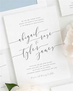 romantic calligraphy wedding invitations wedding With wedding invitations calligraphy or not