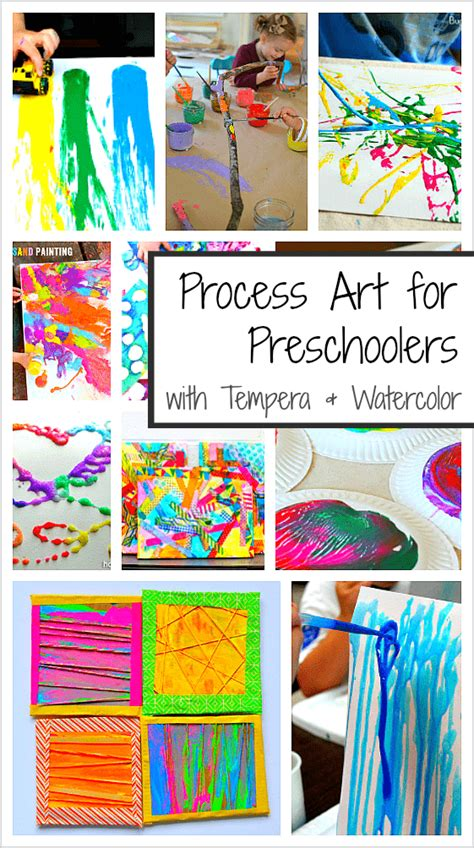 20 process activities for preschoolers using paint 395 | process art pin