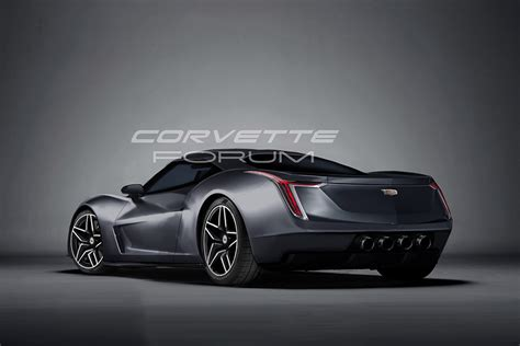 Cadillac With Corvette Engine by We Rendered A Mid Engine Cadillac Corvetteforum