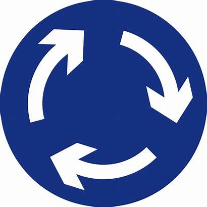 Signs Road Traffic Sign Svg Roundabout Round