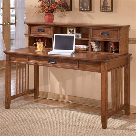 ashley furniture desk with hutch ashley furniture cross island mission large leg desk and